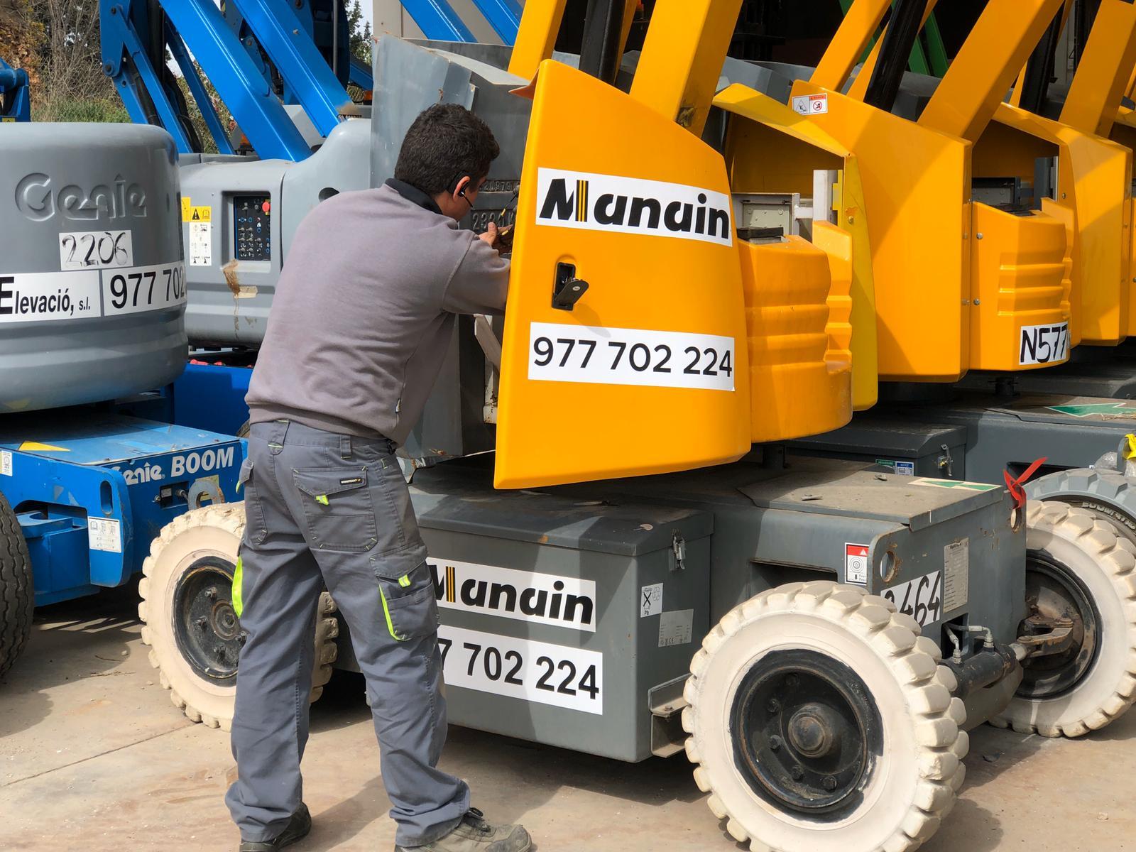 Mantenimiento preventivo de maquinaria – Manain